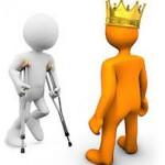 cartoon crutches