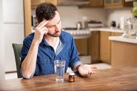 contemplating pills